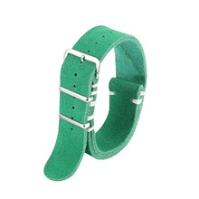Onthelevel  18mm 20mm 22mm 24mm genuine leather suede watchband strap Long style Special&Classical Genuine Leather