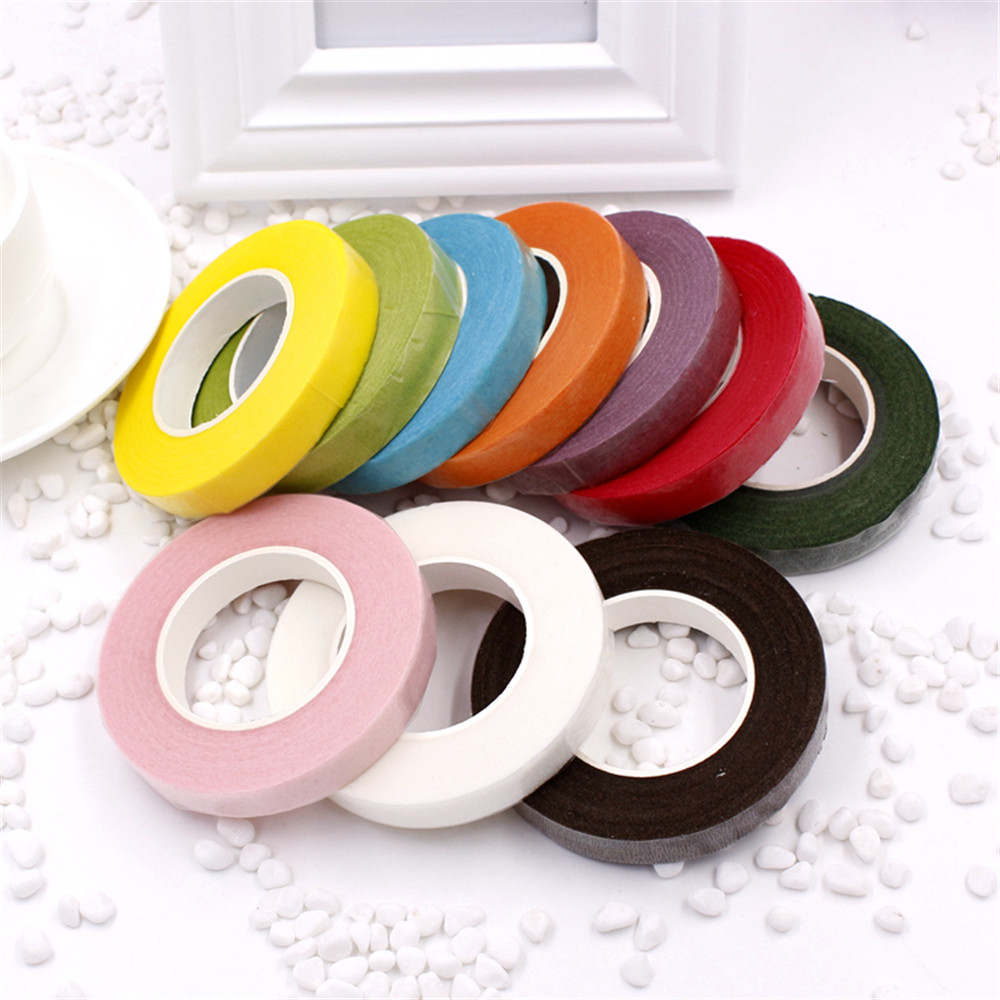 cheap 25Meter Paper Garland Tape Artificial Flower Fixed Supplies For Wedding Decoration DIY Wreath Flores Tape