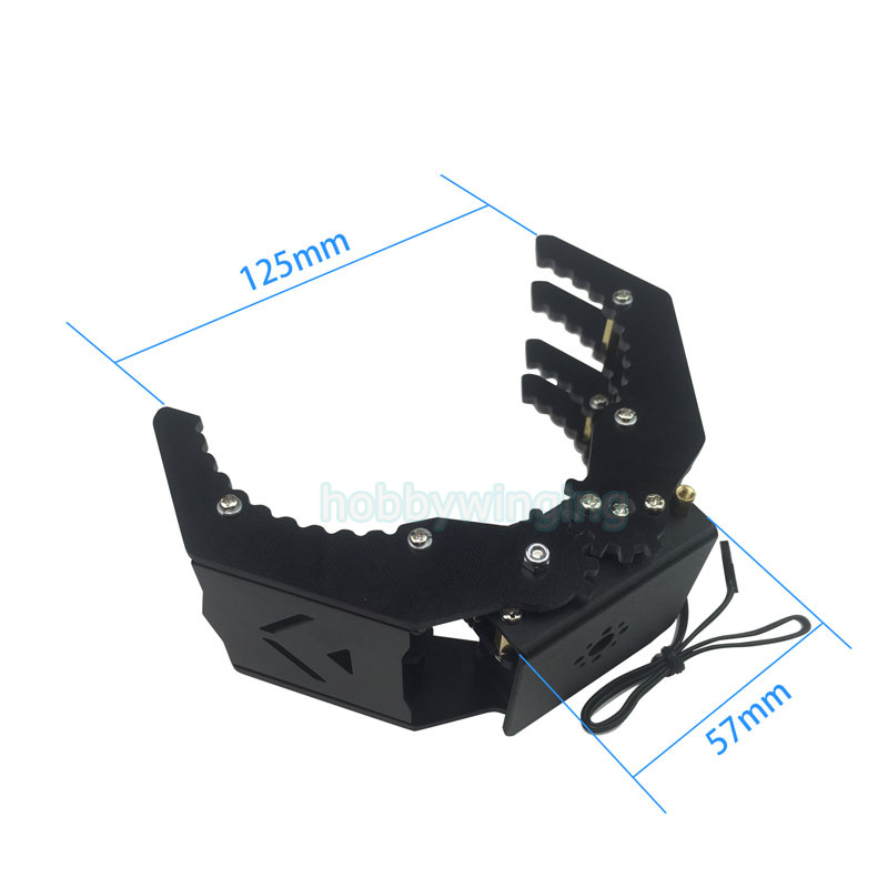 Symmetric Grasping Robot Mechanical Arm Clamp Manipulator Gripper Claw Hand Grips Paw w/ LDX-335MG Servo Grasping 500g symmetric grasping large clamp mechanical robot claw manipulator gripper metal aluminum hand grips paw w ldx 335mg servo