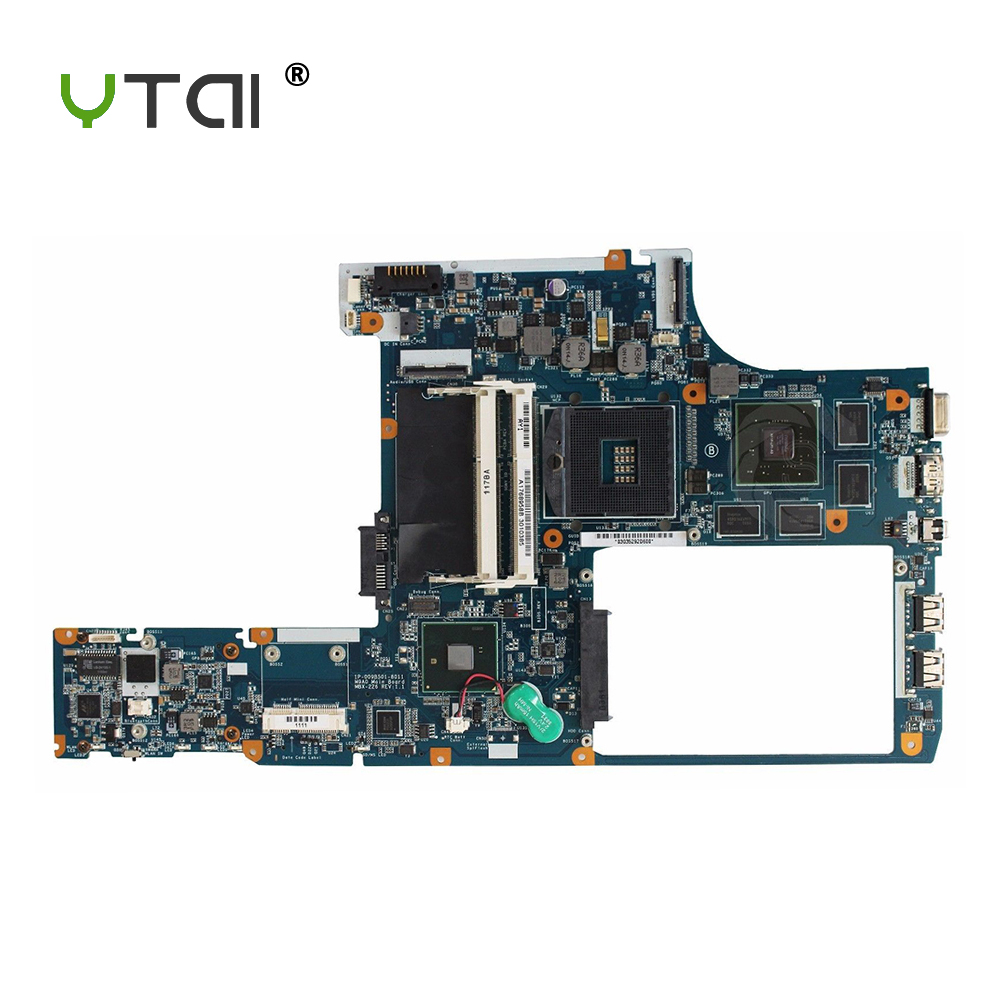 YTAI A1768958B for Sony MBX-226 Laptop Motherboard A1768958B MBX-226 REV:1.1 PM55 1P-009B501-8011 mainboard fully tested original mbx 219 motherboard da0sy3mb6g0 ddr2 mainboard 100
