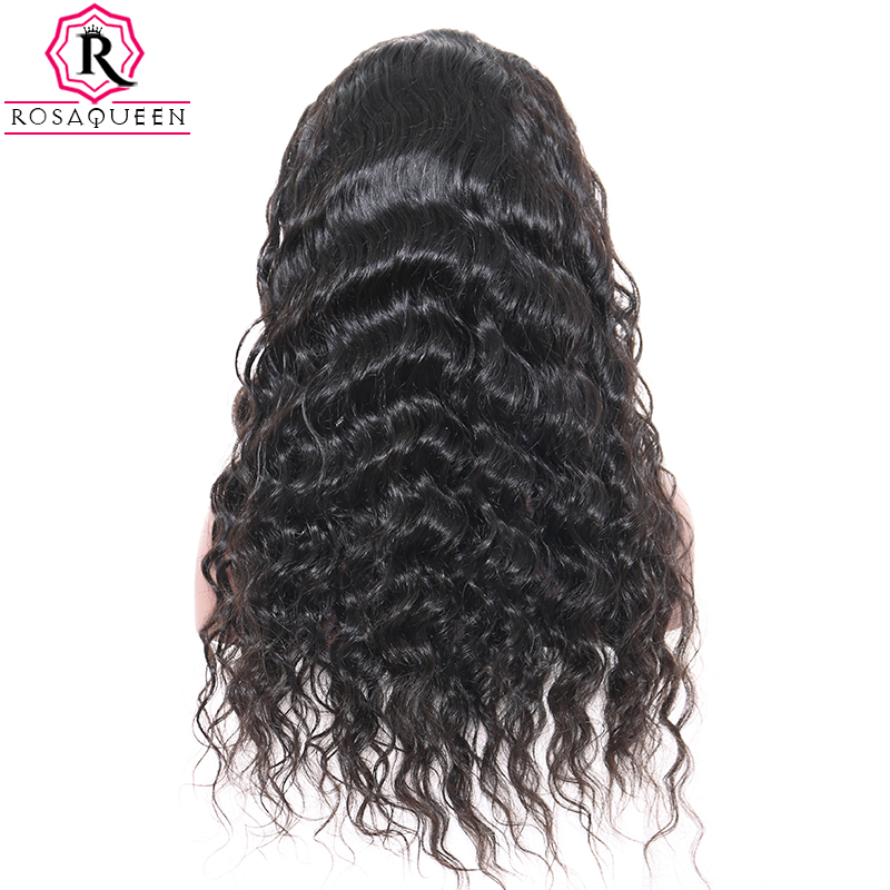 Loose Wave Lace Front Human Hair Wigs For Women Remy Black Brazilian Lace Wig 130% Density Pre Plucked With Baby Hair Rosa Queen