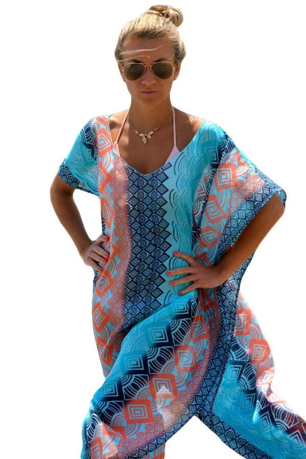 Robe De Plage Art Bohemia Style Poletje Dolga Plaža Ženske Boho - Ženska oblačila