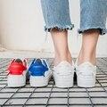 Бесплатная доставка 2017 весна новая мода женская обувь повседневная спорт дышащий PU творческие кроссовки обувь женская повседневная обувь