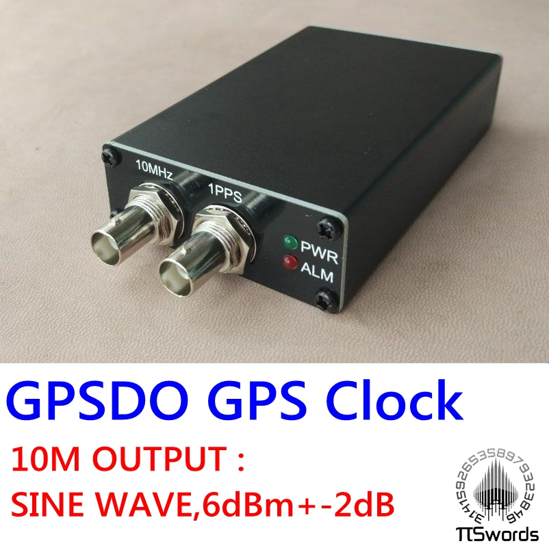 PLL-GPSDO GPS Tame Disciplined Clock Sine Wave GPS Receiver 10M 1PPS Black DE^