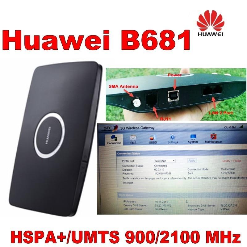 Huawei B681 HSPA + 900 / 2100Mhz 28.8Mbps უკაბელო - ქსელის აპარატურა - ფოტო 4