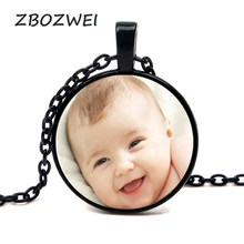 Handmade Personality Photo Family Necklace Photo Baby Child Dad Mom Brothers Sisters Grandparents Handmade Private Customized(China)