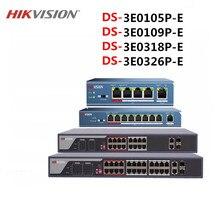 Hikvison 4 Port 8 Port 16 Port 24 Port PoE Schalter DS 3E0105P E DS 3E0109P E DS 3E0318P E DS 3E0326P E 250m Übertragung abstand