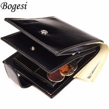 2017 Brand Coin Wallet Wallet Men Clip Cowhide Wallet Men  Small Clutches Men's Purse Coin Pouch Short Men Wallet