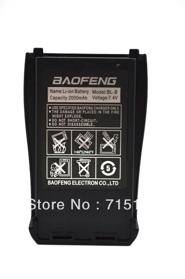 Exclusively New Original Baofeng BL-B 7.4V 2000mAh Li-ion Battery For Baofeng UV-B5/UV-B6 Walkie Talkie