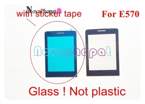 Image 3 - Novaphopat Black Front Glass Screen For Philips Xenium X5500 / X623 / E570 / E560 Outer Glass lens Panel +tracking