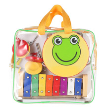 New Arrival! High Quality Children Toddlers Percussion Set Kids Musical Instruments Toys Band Rhythm Kit with Carrying Bag
