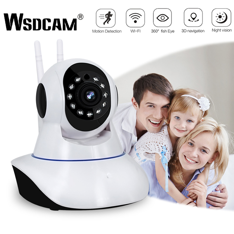 Wsdcam 1080P IP Camera Wireless Home Security Camera Surveillance Camera Wifi Night Vision CCTV Camera Baby Monitor Smart Track