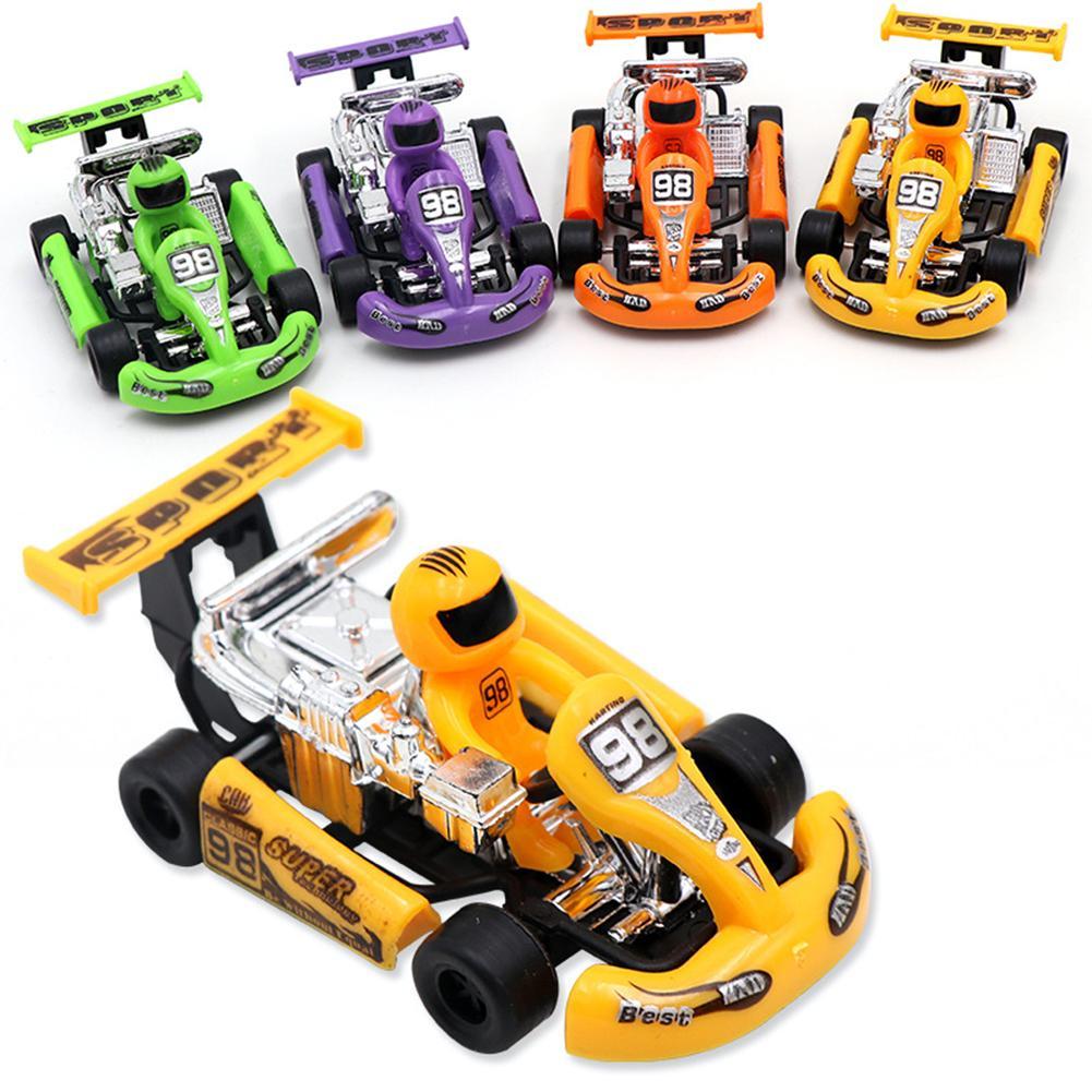 Mini Pull Back Go-Kart Car Racing Game Vehicle Model Children Educational Toy Funny Kids Toys for Boys Girls