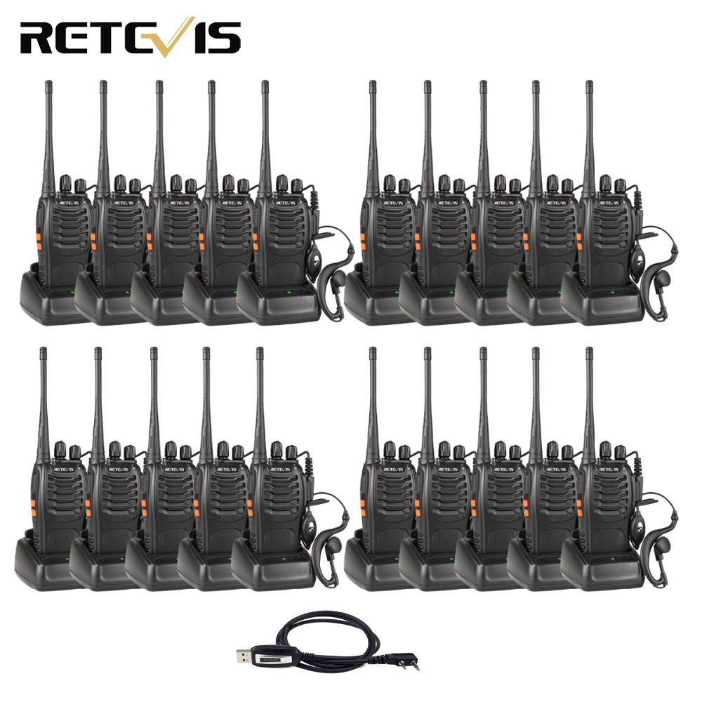 20pcs Walkie Talkie Retevis H777 3W UHF 400 470MHz Handheld Portable Radio Set Ham Radio Hf