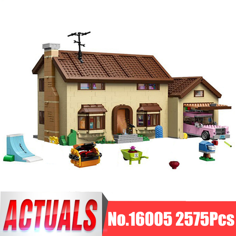 Lepin Movie Figures 16005 2575Pcs The Simpsons House Model Building Kits Blocks Bricks Educational Kid Toy Compatible With 71006 e0037 right hand ascender professional aerospace aluminum ascenders for outdoor mountaineering rock climbing