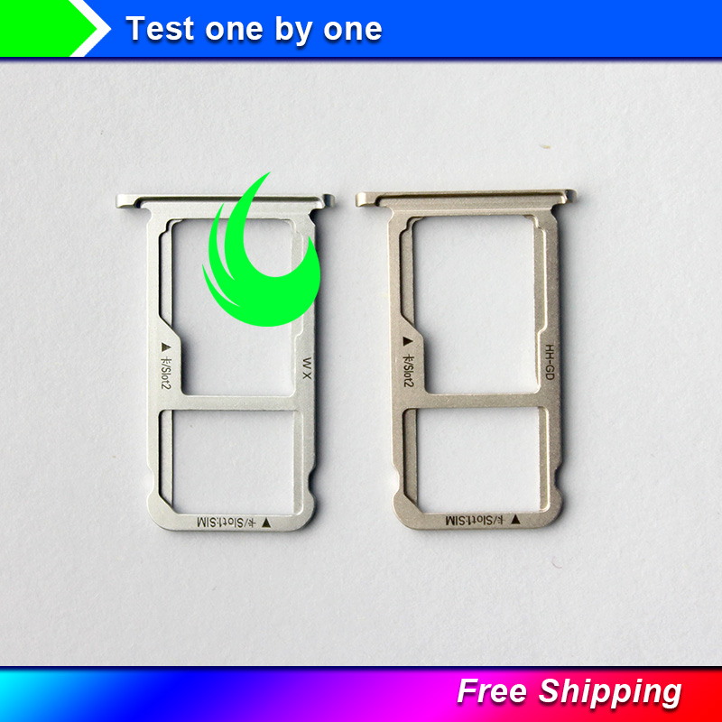 5pcs/Lot New Original For <font><b>Huawei</b></font> Honor 6X <font><b>GR5</b></font> <font><b>2017</b></font> SIM Card Tray Micro SD Card Holder Slot Adapter Parts Replacement Parts image
