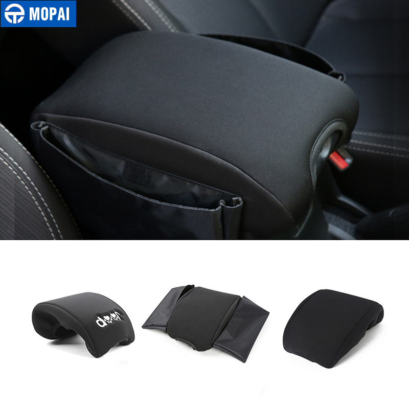 цены MOPAI Multifunctional Cloth Car Interior Decoration Seat Armrests Pads Cover For Jeep Wrangler 2007-2016 Car Styling