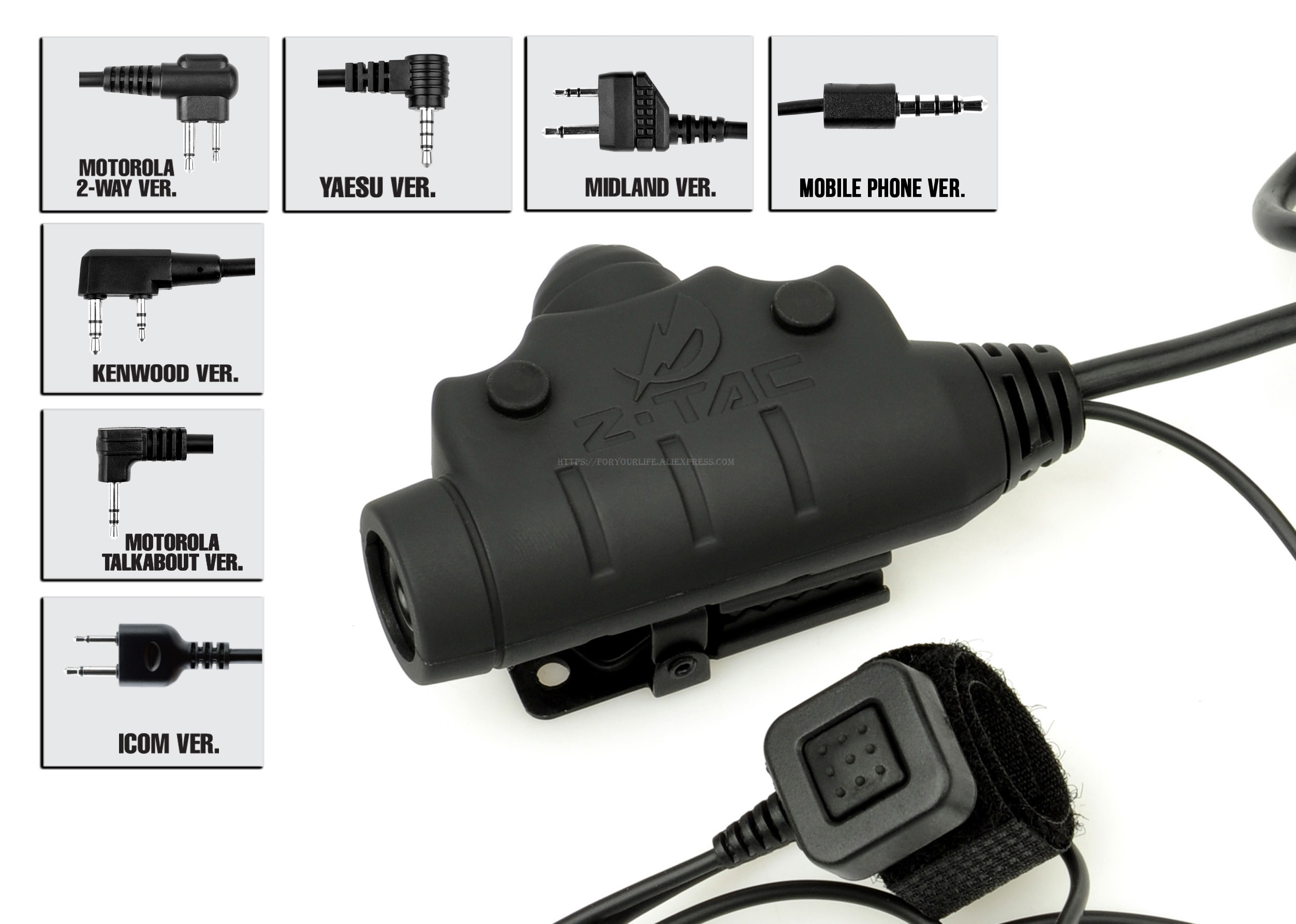 Tático U94 PTT walkie-talkie lançamento botão interruptor