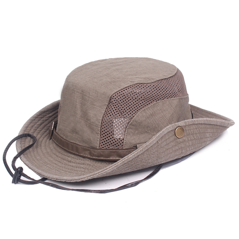 Bucket Hat Breathable Wild UV Protecting Fishing Hiking Camping Cap Cotton Sun Hat  YS BUY Fishing Caps     - title=