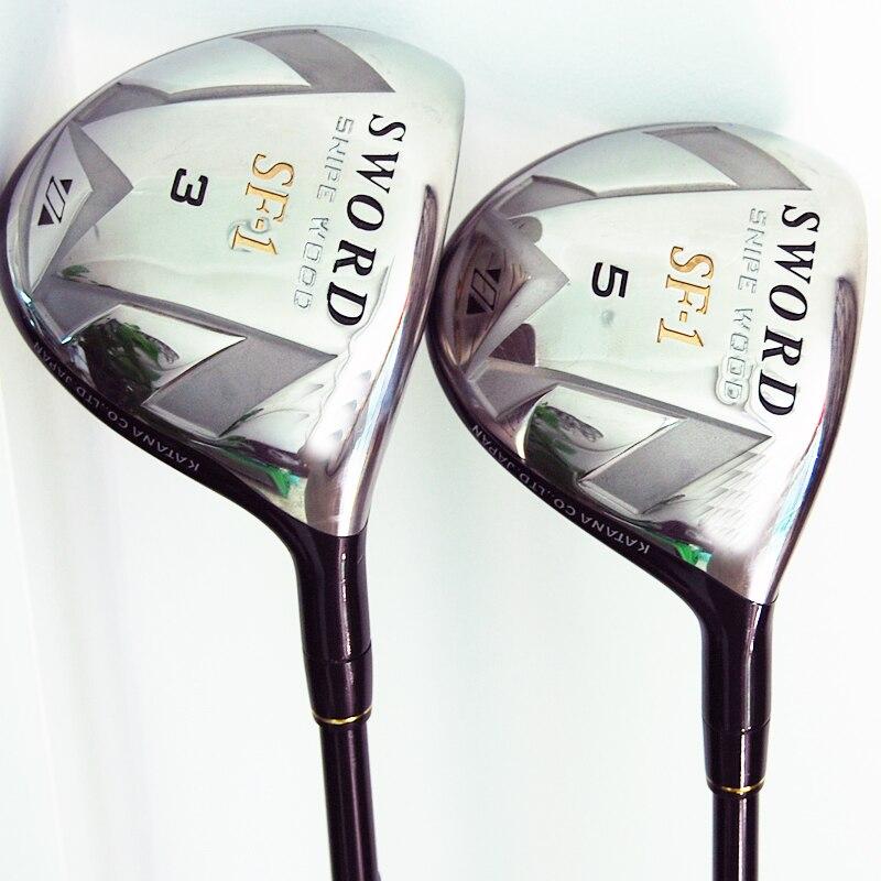 Cooyute New mens Golf clubs KATANA SWORD SF-1 3/5 Golf fairway wood with Graphite Golf shaft wood clubs free shipping