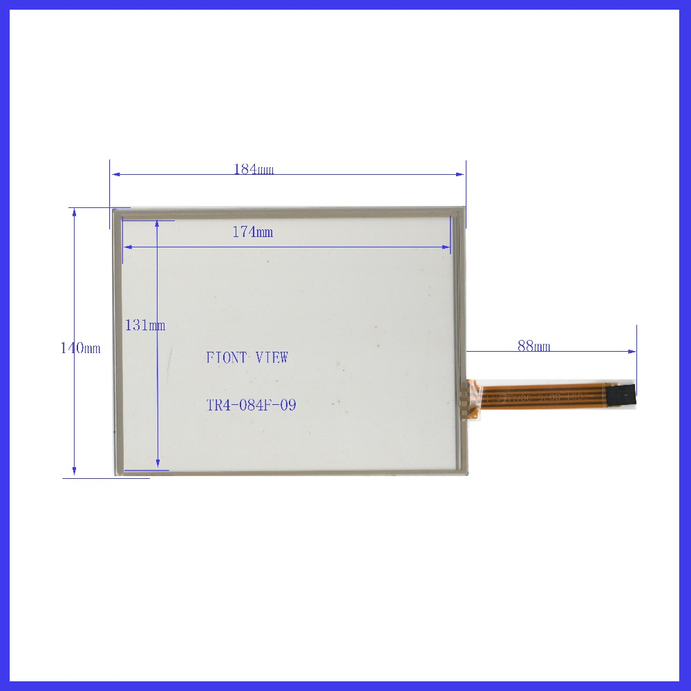 TR4-084F-09  POST 8.4  inch 4wire resistive Touch Screen 184*140  for  industry applications  MINDA IN TAIWAN штора рулонная уют дельфы 50х175см бежевая