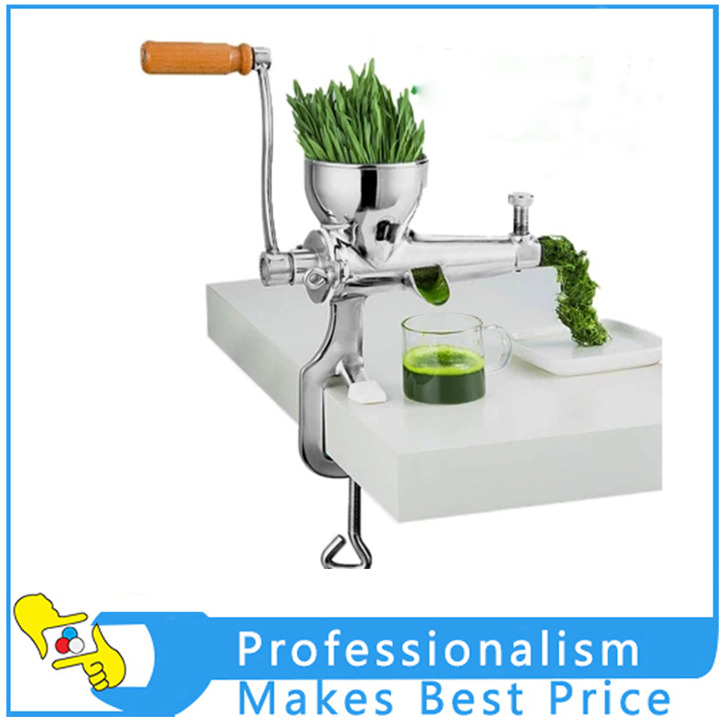 Stainless Steel Manual Wheat Grass Juicer Fruit Vegetables Squeezer Juicer Hand Crank healthy mini manual juicer with good price