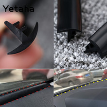 Yetaha 1.6M Noise Insulation Soundproof Dust Proof Sealing Strip Silicone Rubber Weatherstrip For Auto Car Dashboard Windshield