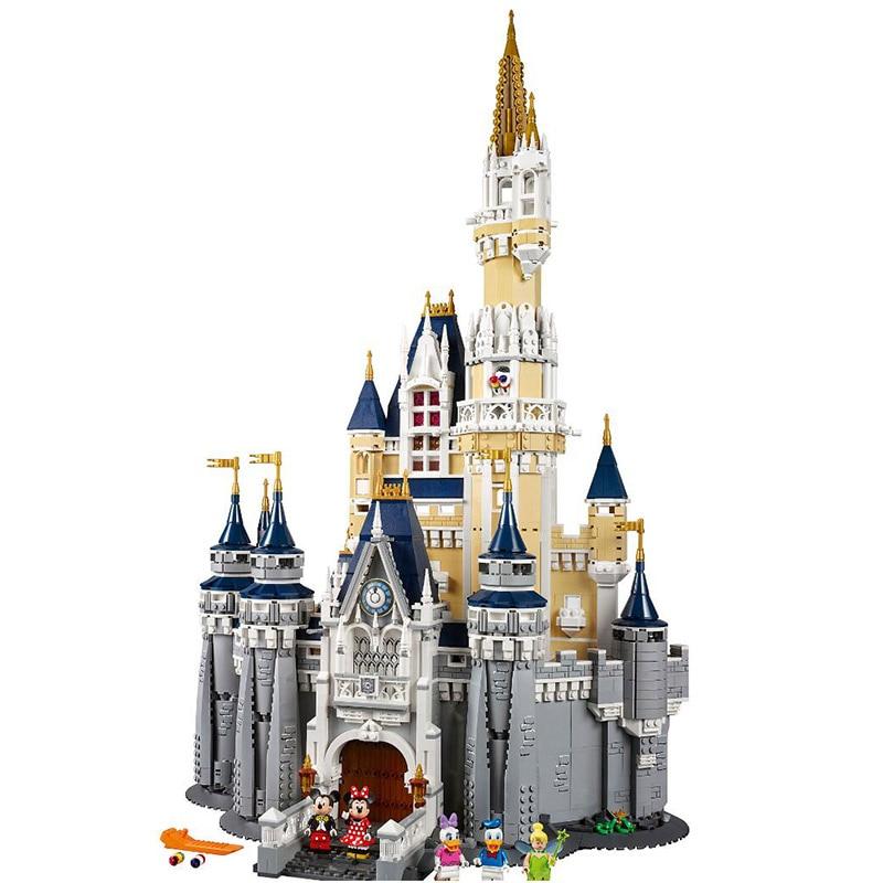 4080Pcs Princess Series Cinderella Castle 71040 Snow White Building Blocks Bricks Toy Christmas Gift Compatible Legoings Friends ws 481 1 часы русалка и дитя