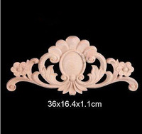 36x16 4x1 1cm Wood Shavings Shaped Flowers Decal European Wood Trim Chinese Decoration Furniture Decoration