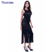 2017 New Self Cultivation Dress Pure Color Fashion Ladies Elegant Sleeveless Vest Dress Autumn Slim Sexy