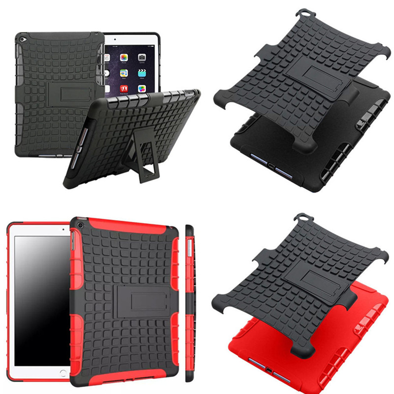 HH For iPad 6/iPad air 2 case hybrid shock proof with Stand function Cover for iPad Air2 ipad6 TPU+PC Hard Back cases