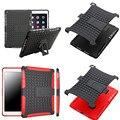 Hh para ipad 6/ipad air 2 case hybrid a prueba de golpes con cubierta la función del soporte para el ipad air2 ipad6 tpu + pc duro volver casos