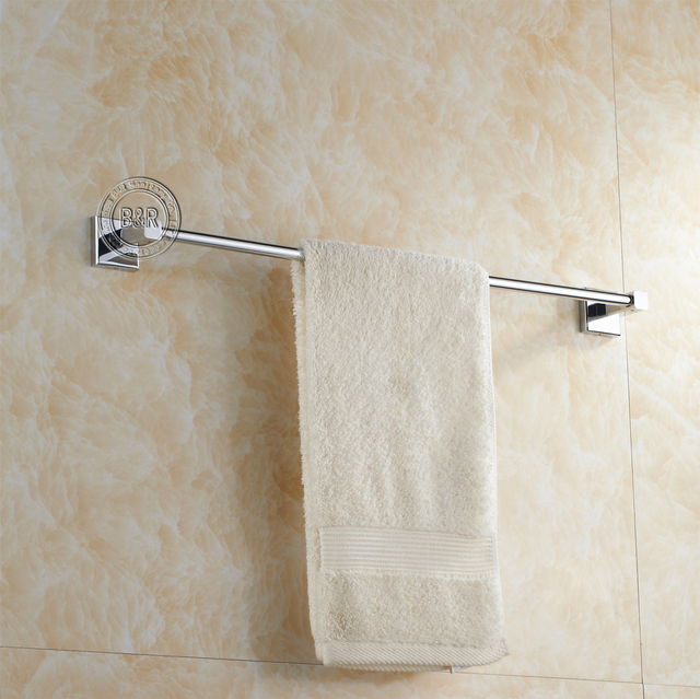 BECOLA Free Shipping Bath Towel Rack Bathroom Accessories Products Chrome  Towel Bar Towel Holder BR