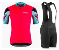 Best quality Pro team high quality cycling jersey short sleeve and bib short kit 4D gel pad mtb bycicle bike cycling set