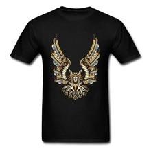 2018 Men T-shirt Owl Animal Poker Tops Custom Mans T Shirt Summer Chic Designer Tee Shirts Black Clothing Cotton Fabric Modern