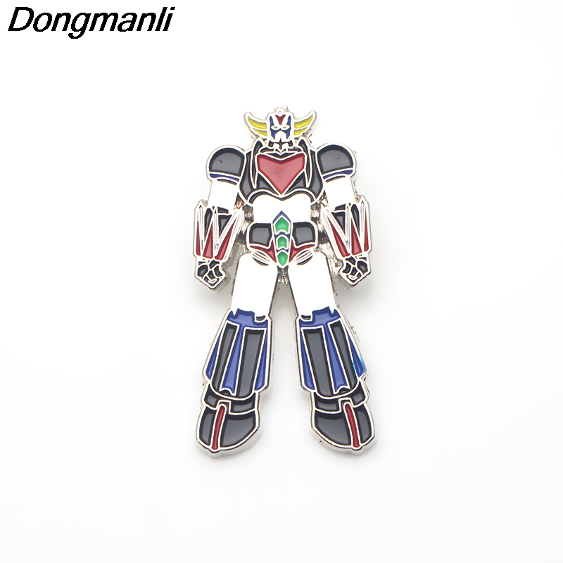 P3001 Dongmanli wholesale 20pcs lot UFO Robot Grendizer Anime Metal Enamel Pins and Brooches for Women