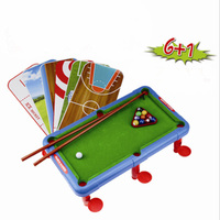 6 In 1 Multi Function Mini Billiards Soccer Basketball Bowling Golf Hockey Curling Table Kids Indoor