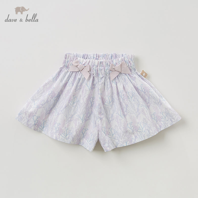 DBZ10309-2 dave bella summer baby girl clothes infant toddler 100% cotton casual shorts children boutique pants DBZ10309-2 dave bella summer baby girl clothes infant toddler 100% cotton casual shorts children boutique pants