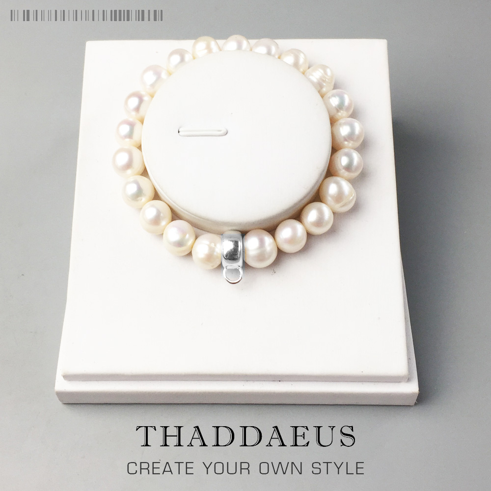 Bracelet à breloques perles d'eau douce, Style Club Europe, bon bijou Glam pour femme, 2017 cadeau en argent, Super offres Soul