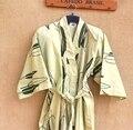 2016 зимние горячие продажа китайских людей шелковый атлас вышивка халат кимоно ванна платье цветы