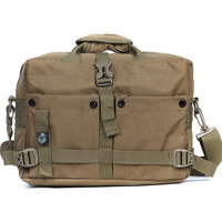 2015 Free shipping Outdoors Military Combat Army Fans Tactical Laptop Bag Compass Computer Leisure 13 inch Notebook shoulder Bag
