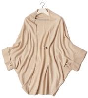 Высший сорт 100% Шевро кашемировые Женская мода накидка пончо свитер с рукавами «летучая мышь» средней длины один и более размер