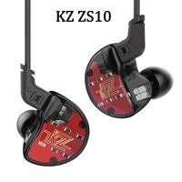 2018 KZ ZS10 4BA 1DD Hybrid In Ear Earphone HIFI DJ Monito Running Sport Earphones Earplug