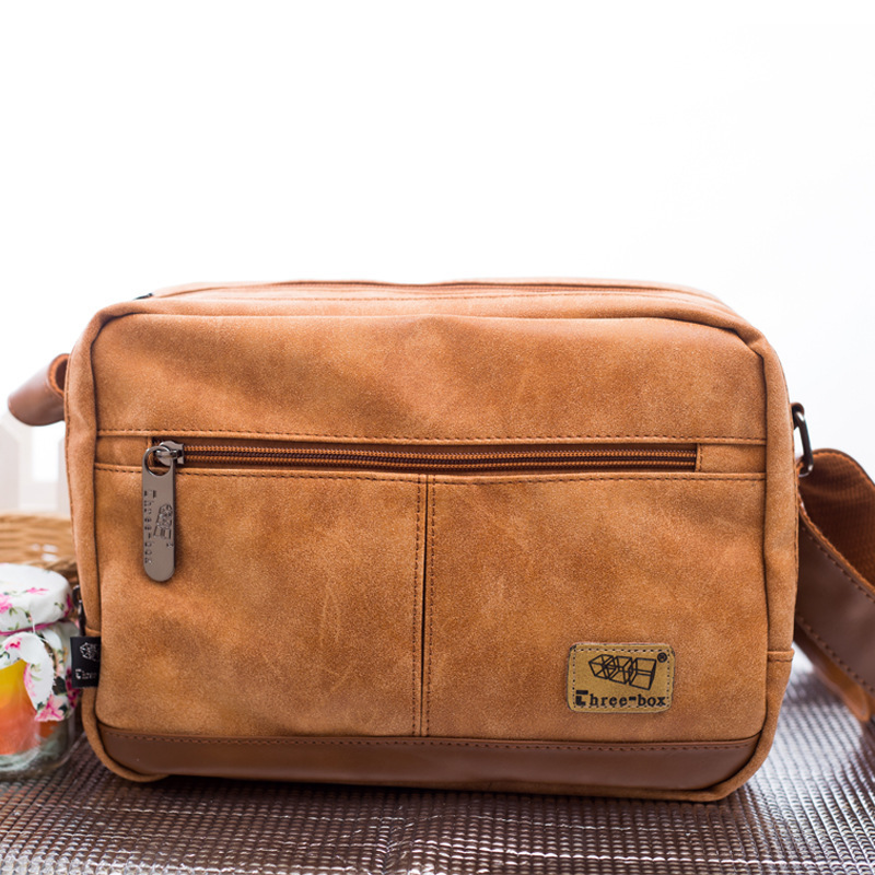 Free Shipping Multilayer Small Men Messenger Bags Vintage