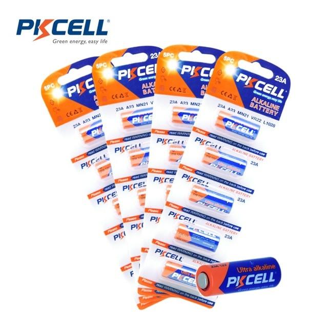 4Pack/20Pcs*PKCELL Bateria 12V 23A 12V Battery Alkaline Batteries MN21 A23 12V Baterias