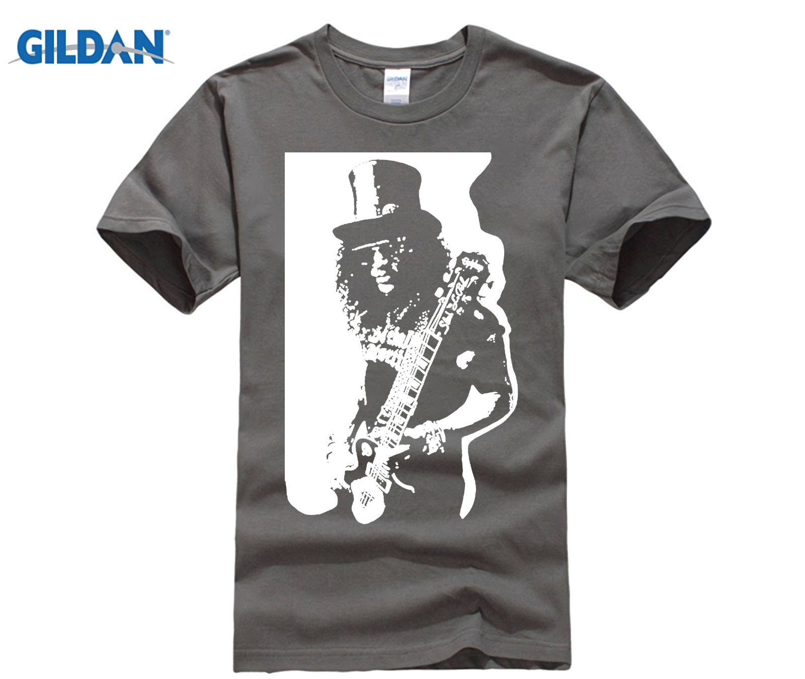 Gildan Slash Music Custom T Shirts Rock Band Gun N Roses White Homme