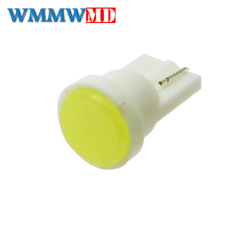 1x Ceramic Car Interior LED T10 COB W5W 168 Wedge Door Instrument Side Bulb Lamp Car Light Plate Light White/Blue/Green/Yellow 2 pcs car side light interior bulb