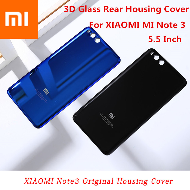 XIAOMI Battery-Cover Hard-Case Back-Door 3d Glass Mi-Note 100%Original Replacement Smooth-Skin-Housing
