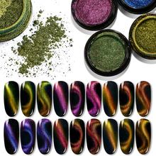 T-TIAO CLUB  5D Cat Eye Nail Glitter Powder Magnet Magnetic Mirror Effect Pigment Nails DIY Art Polish Decorations
