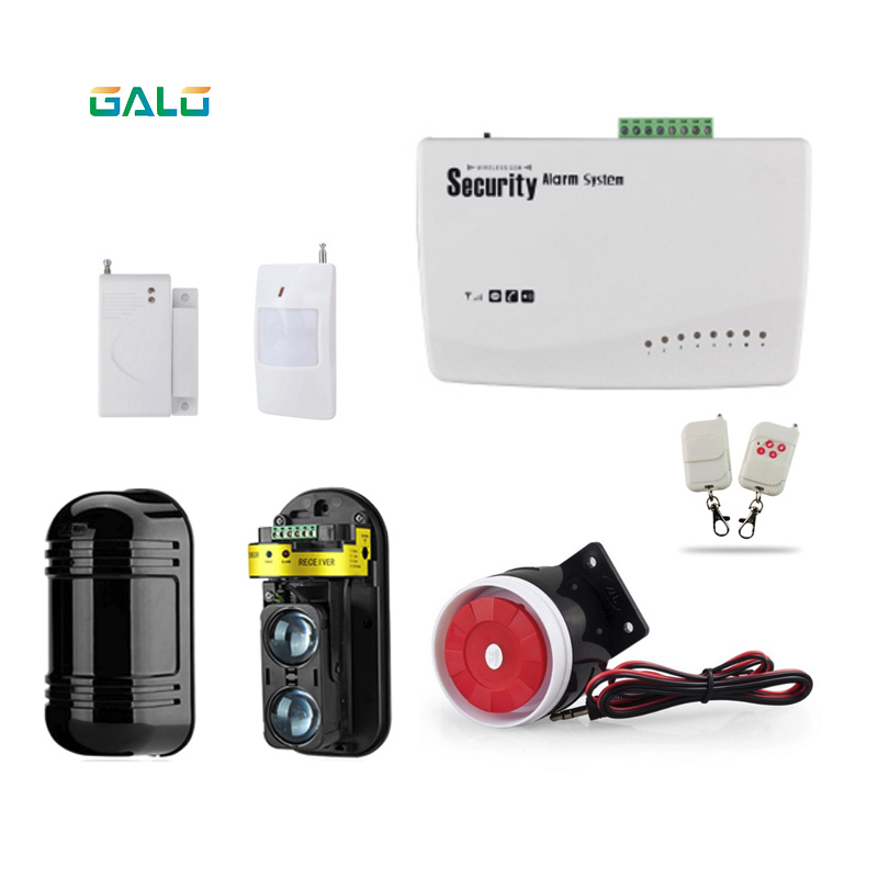 Home-front Wireless GSM Alarm System wired Wall protection Alarm Systems Security Home For fences or farmsHome-front Wireless GSM Alarm System wired Wall protection Alarm Systems Security Home For fences or farms